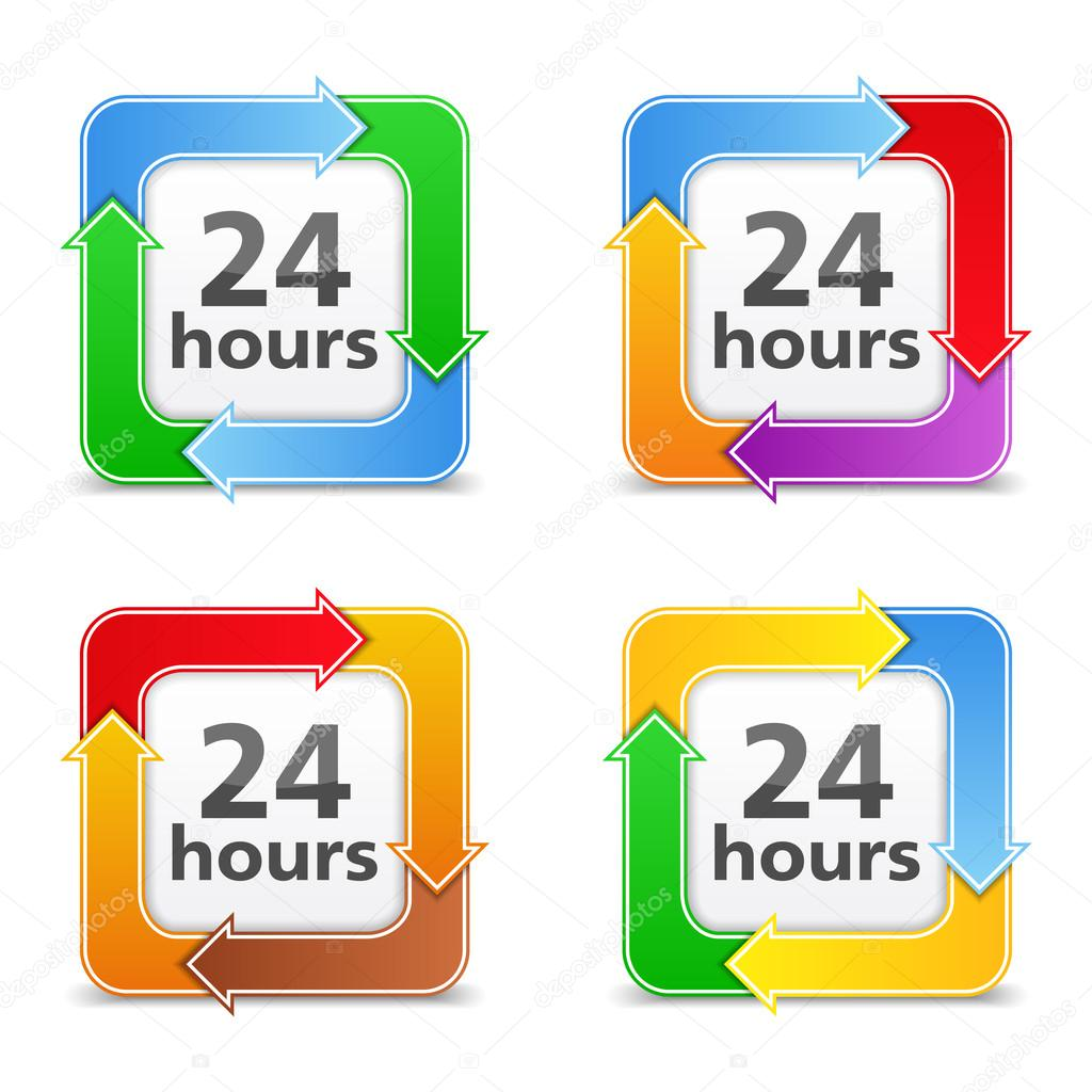 24 Hours Icons