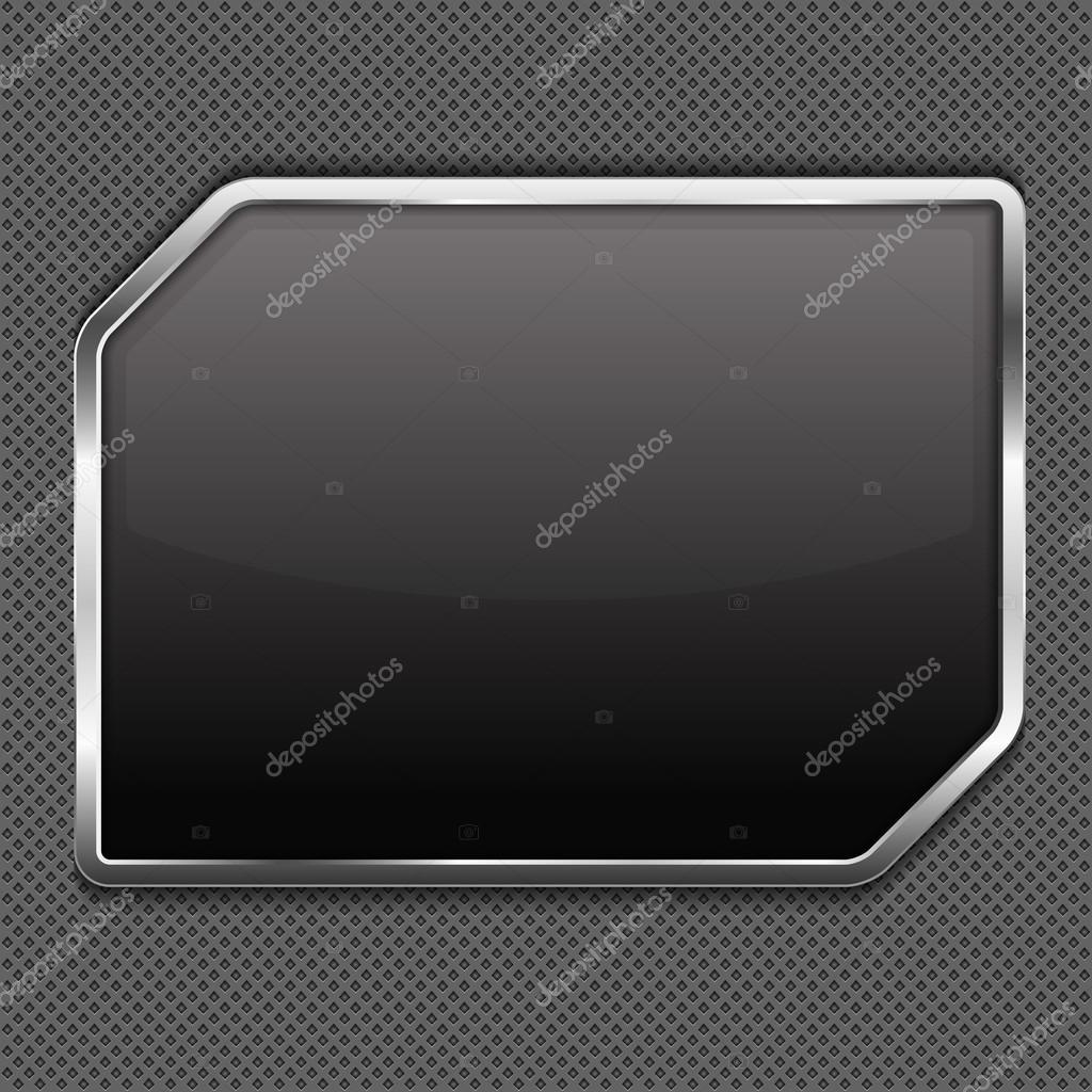 marco de metal — Archivo Imágenes Vectoriales © human_306 #22348923
