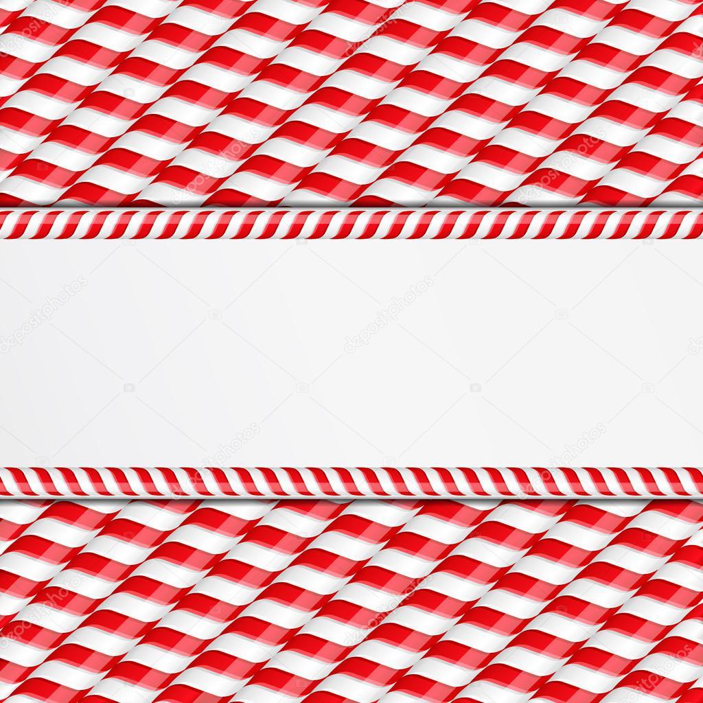fondo de bastones de caramelo u vector de stock