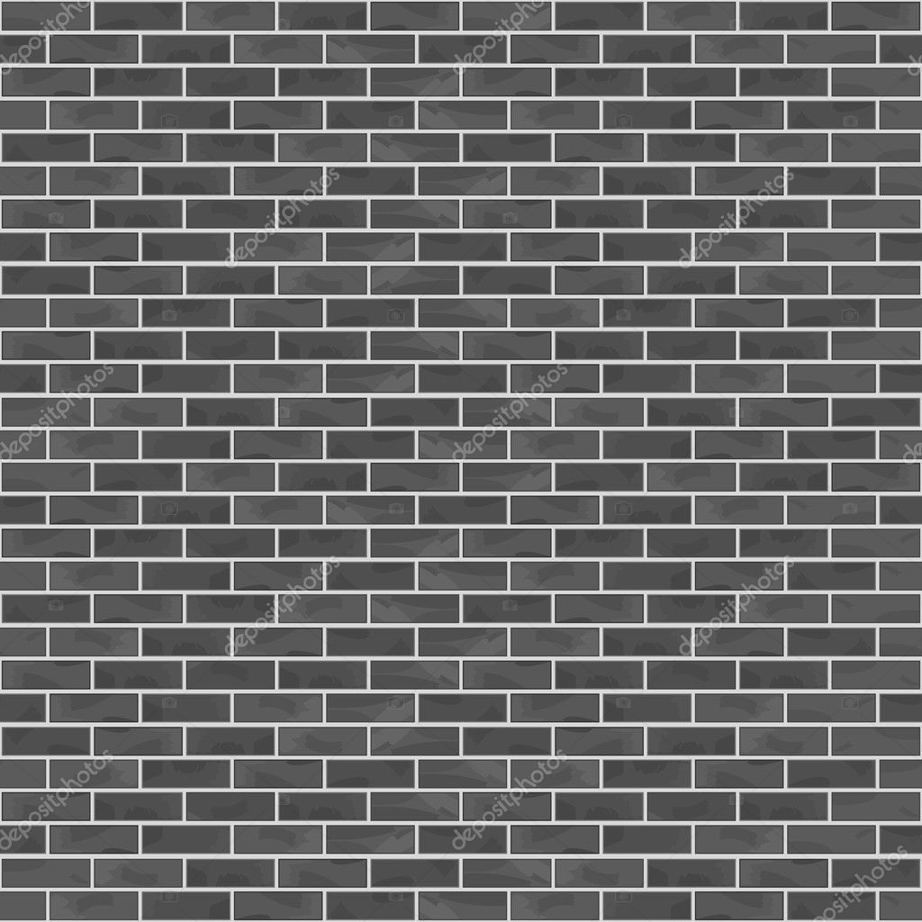 Black Brick Wall seamless black brick wall — stock vector © human_306 #45807245