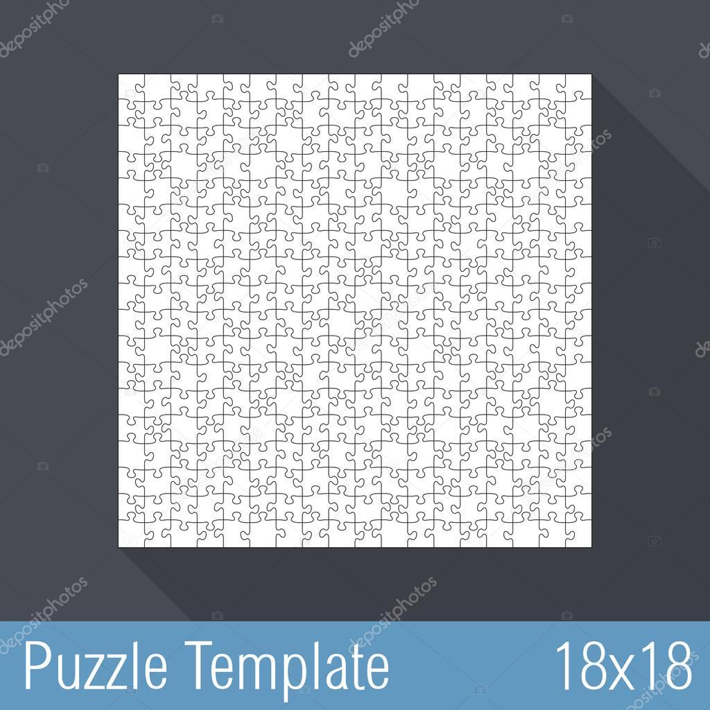 plantilla de Puzzle 18 x 18 — Vector de stock © human_306 #45807267