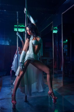 Pole dance woman