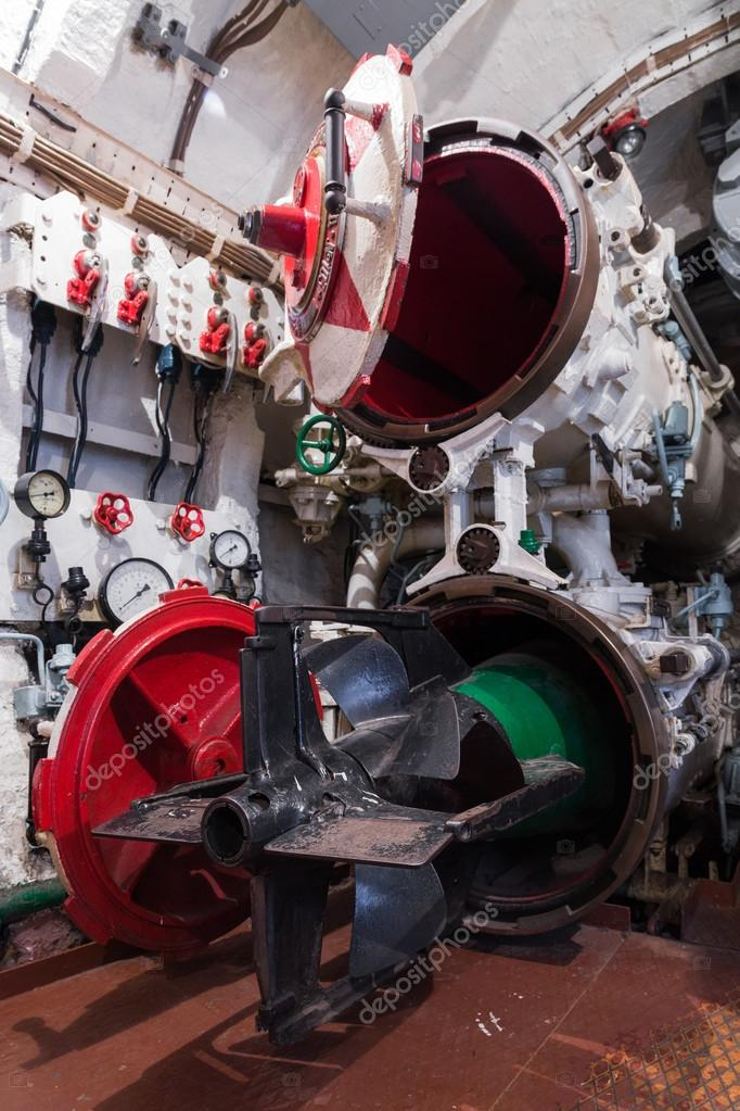 Torpedo compartment in russian submarine