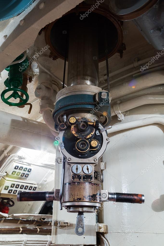 Periscope in old russian submarine