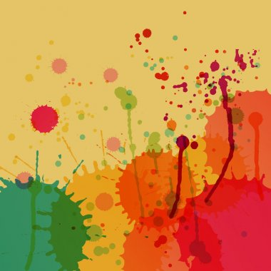 Colorful splashes vector background
