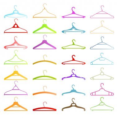 Set of coat hangers set background