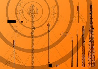 Telecommunications tower, radio, television and mobile phone bas