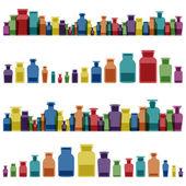 Fotografie Vintage old glass jars, bottles and medicine chemistry potionsl