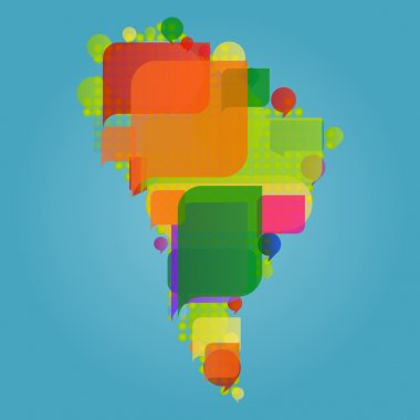 South America continent world map made