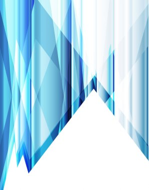 Blue abstract background vector neon template