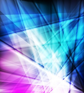 Blue and pink neon vector abstract background