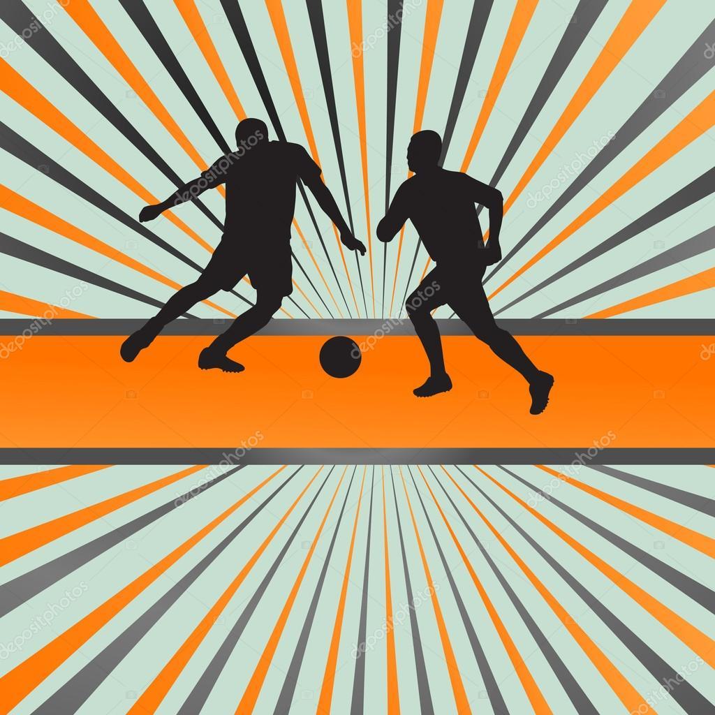 soccer football player silhouette vector burst background stock vector 28267379