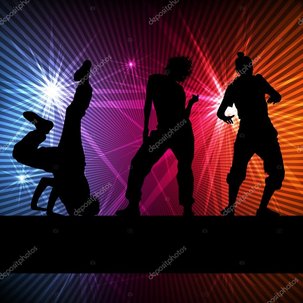 Girl Dance Silhouette Vector Background Concept For Poster By K3studija
