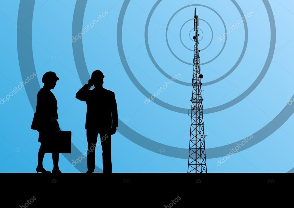 Telecommunications radio tower or mobile phone base station with
