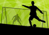Fotbal fotbal hráče aktivní sport siluety vektor abstrakt