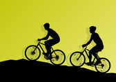 Photo Active cyclist bicycle rider background illustration vector