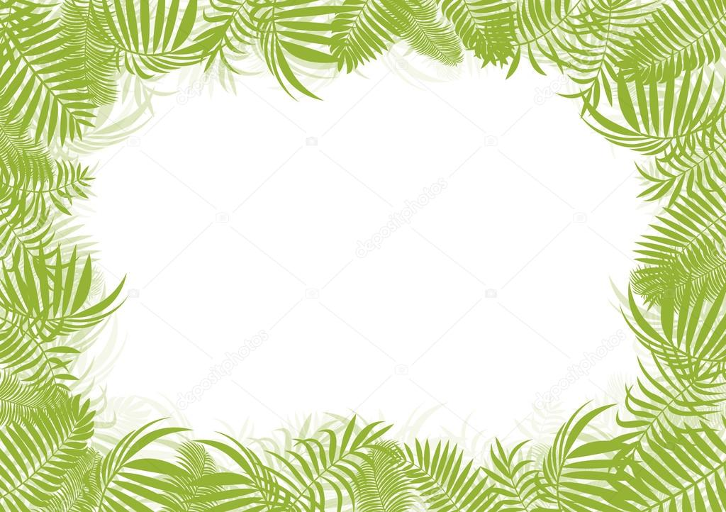 selva tropical Selva tropical vector fondo blanco marco templa ...