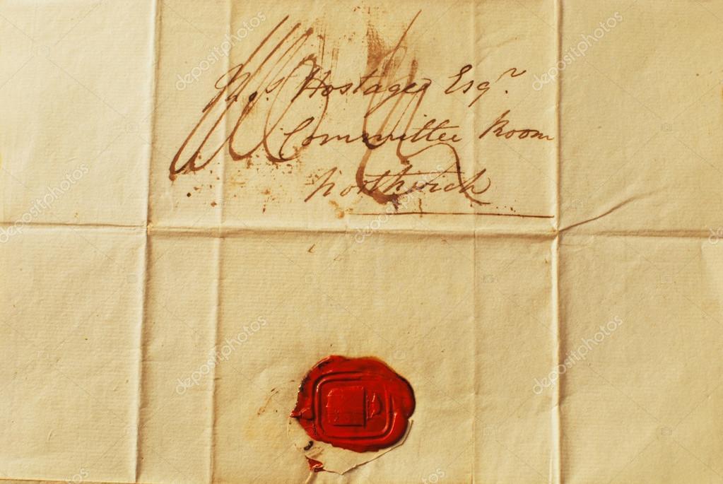 Brief Mit Kerzenwachs Versiegeln : Alten brief mit rotem wachs versiegeln hintergrund