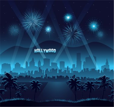 Hollywood movie premiere background celebration eps 10 stock vector