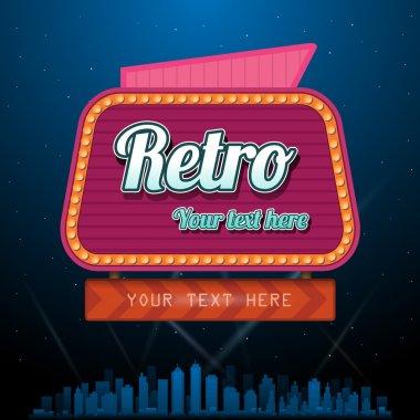 Retro motel sign with copyspace