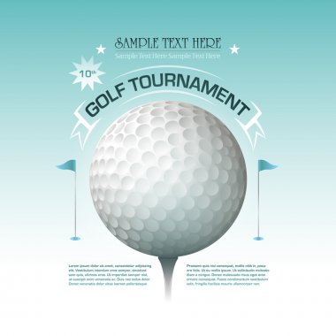 Golf tournament invitation banner background