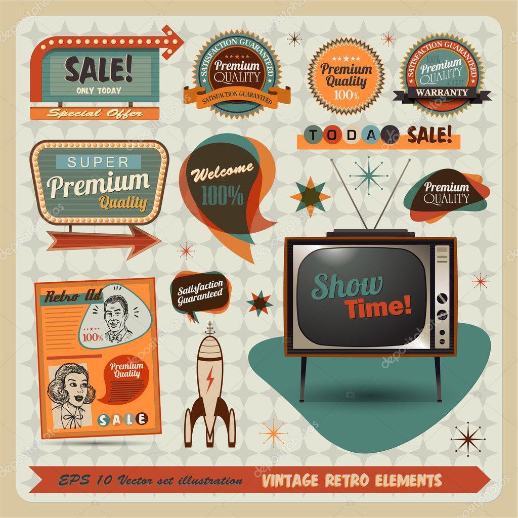 Vintage And Retro Design Elements