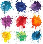 Barevné abstraktní vektorové inkoust Barva ikony