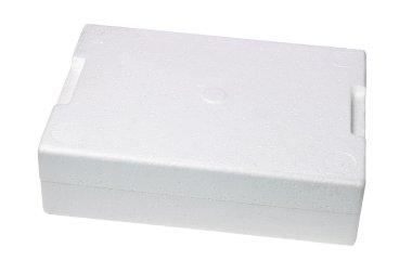 Closed Styrofoam Storage Box on White Background stock vector