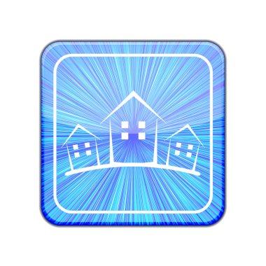 Vector version. Real estate icon. Eps 10 illustration