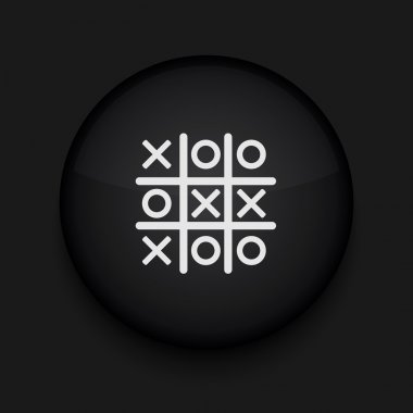 Vector Tic tac toe icon. Eps10. Easy to edit