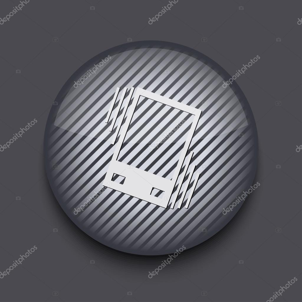 Vector app circle striped icon on gray background  Eps 10