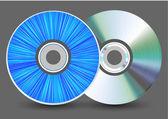 vektorové disk na šedém pozadí. eps10