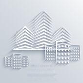 vektorové pozadí ikony nemovitostí. eps10