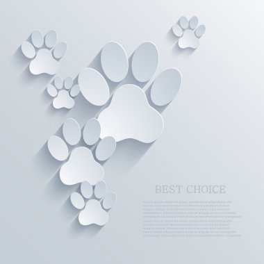 Vector paw background.