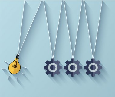Vector flat idea business background. Eps 10