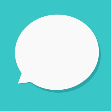 Vector modern flat bubble speech