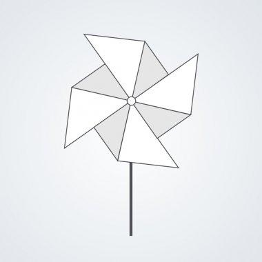 vector modern windmill background.