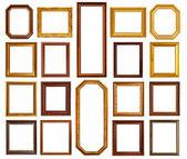 Fotografia telaio di legno e oro