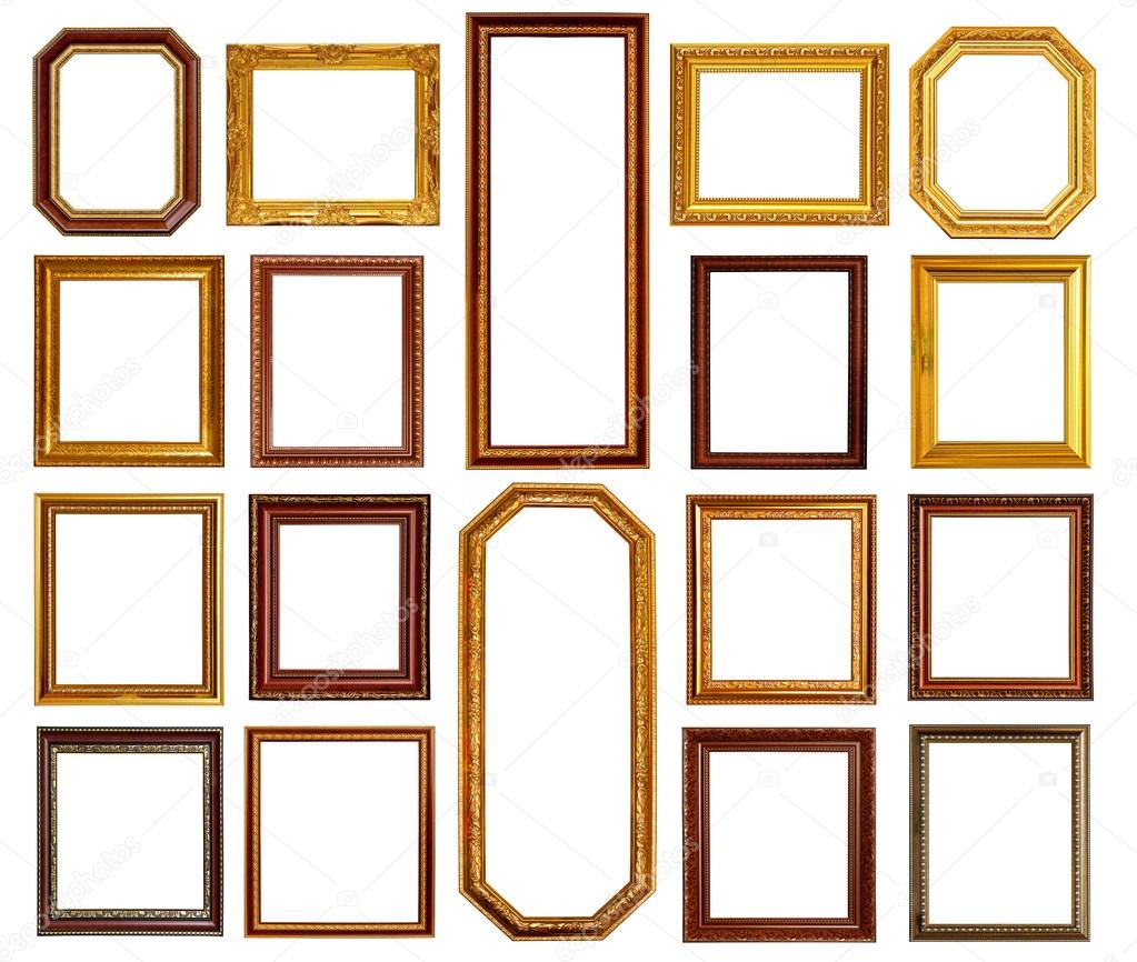 Gold and wood frame