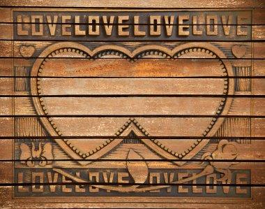 Love wood frame