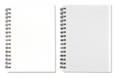 White Blank Note Book