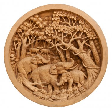 Carved Thai elephant