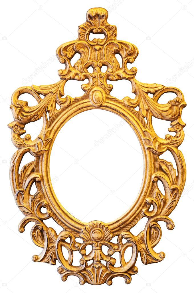 Gold Ornate Oval Frame Stock Photo C Witthayap 47669815