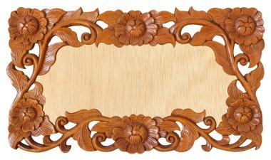 Flower carved frame