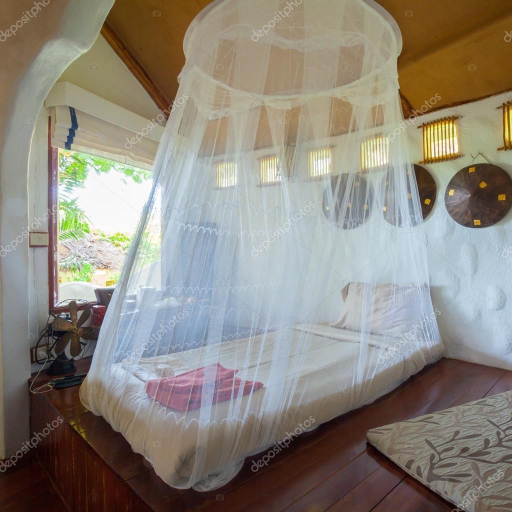 Sypialnia W Stylu Tropikalnym Azji Zdjęcie Stockowe