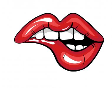 Illustration of red lips stock vector