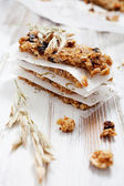 Photo Homemade granola bars