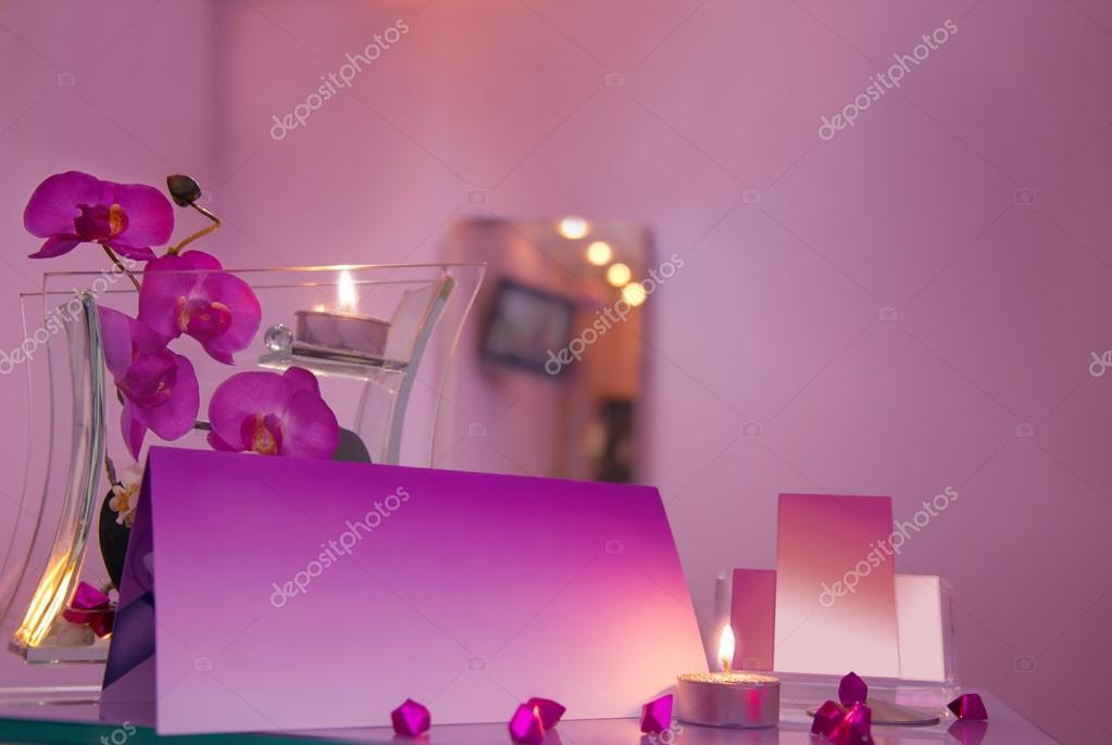 Intrieur Du Salon De Coiffure Luxe Avec Des Cartes Visite Vierges Photo