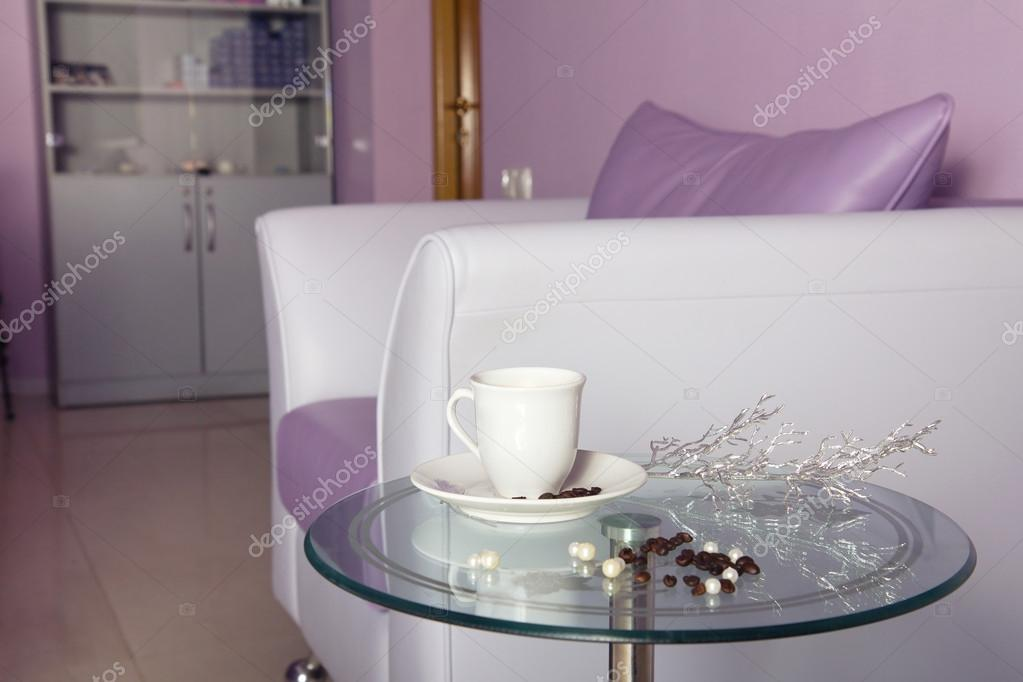 Amazing Purple Leather Sofa At Waiting Room Stock Photo Theyellowbook Wood Chair Design Ideas Theyellowbookinfo