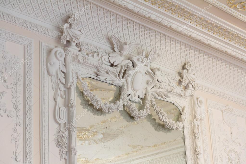 white antique mirror frame molding stock photo 18901077 - Mirror Frame Molding